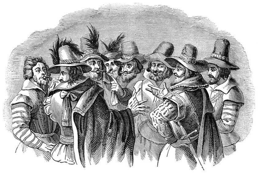 Guy Fawkes and his fellow conspirators
